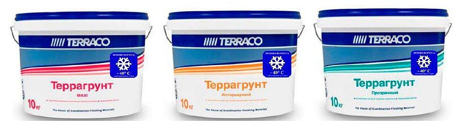TERRACO - грунтовка с зимней формулой