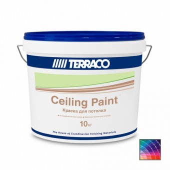 Краска TERRACO Ceiling Paint для потолков 10 кг