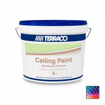Краска TERRACO Ceiling Paint для потолков 5 кг