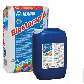 Клей Mapei Elastorapid для плитки и камня компонент А белый 25 кг