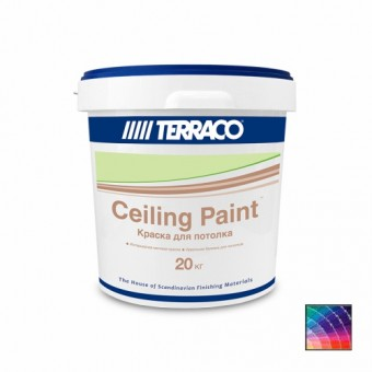 Краска TERRACO Ceiling Paint для потолков 20 кг